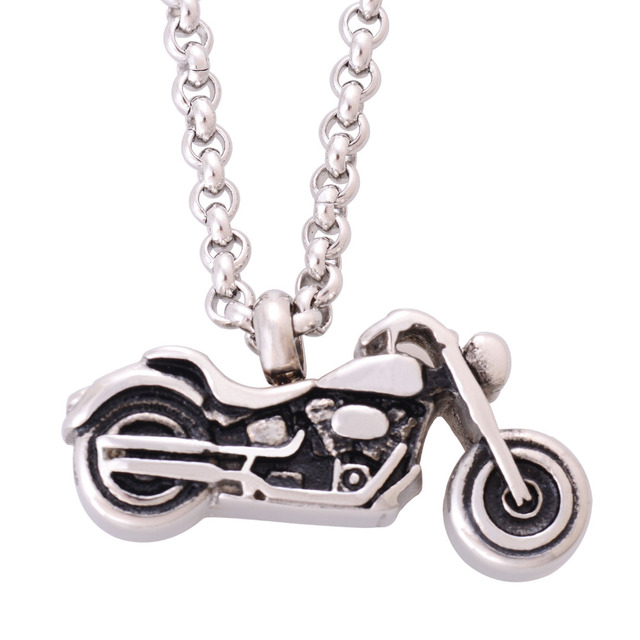 Motorcycle Shaped Memorial Pendant