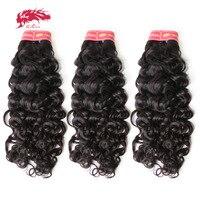 Ali Queen код бразильский волна воды Девы волос 3 шт./лот virgin человеческих волос Weave Связки салон природного Цвет может Цветной 613 #