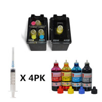 Refillable ink cartridge replacement for HP129 135 refill ink for Deskjet 6940 6940dt 6943 6980 6980dt 6983 6988 D4145 D4155