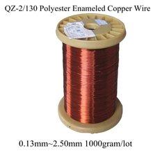 0.13 MM ~ 2.50 MM wiele rozmiar 1000 gram/rolka poliestrowa emaliowany przewód miedziany uzwojenie cewki magnetycznej QZ 2/130 czerwony drut magnetyczny