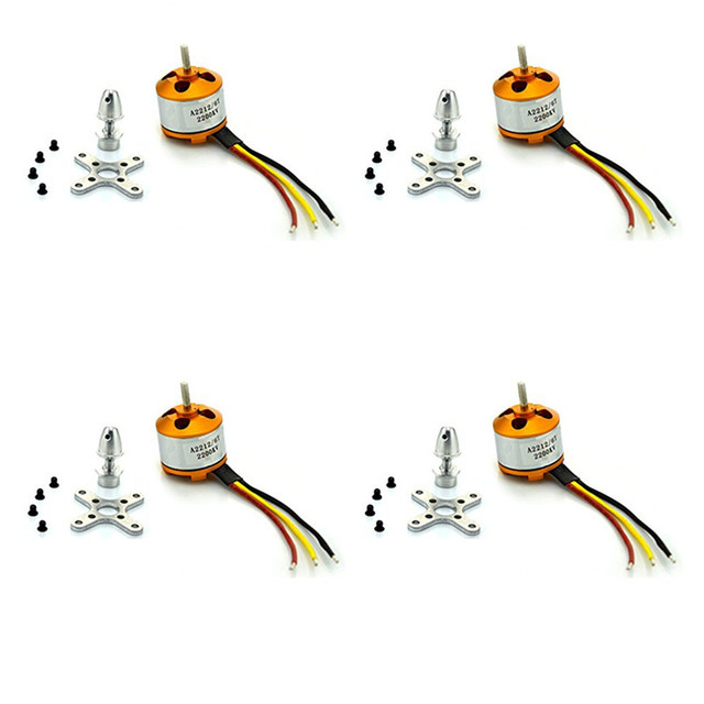4pcs/Lot XXD A2212 2200KV Brushless Motors +holders for RC Aircraft Four Axis Multicopter Quadcopter Parts