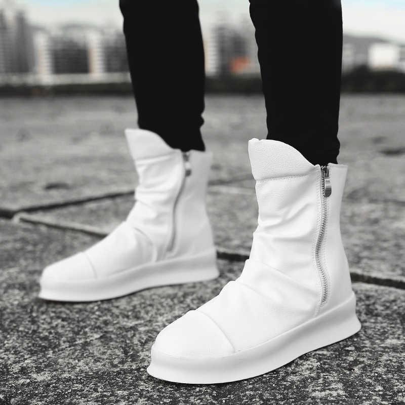 6cf18b2e7 Hip hop Fashion autumn winter Men Chelsea Boots Slip-On Dress Shoes Dancing  Footwear Platform