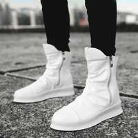 Hip hop Fashion autumn winter Men Chelsea Boots Slip On Dress Shoes Dancing Footwear Platform High Top Sneakers Martin Boots