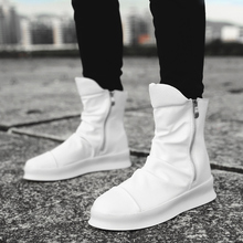 Hip hop Fashion autumn winter Men Chelsea Boots Slip-On Dress Shoes Dancing Footwear Platform High Top Sneakers Martin Boots