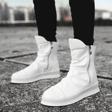 Hip hop Fashion autumn winter Men Chelsea Boots Slip-On Dress Shoes Dancing Footwear Platform High Top Sneakers Martin Boots