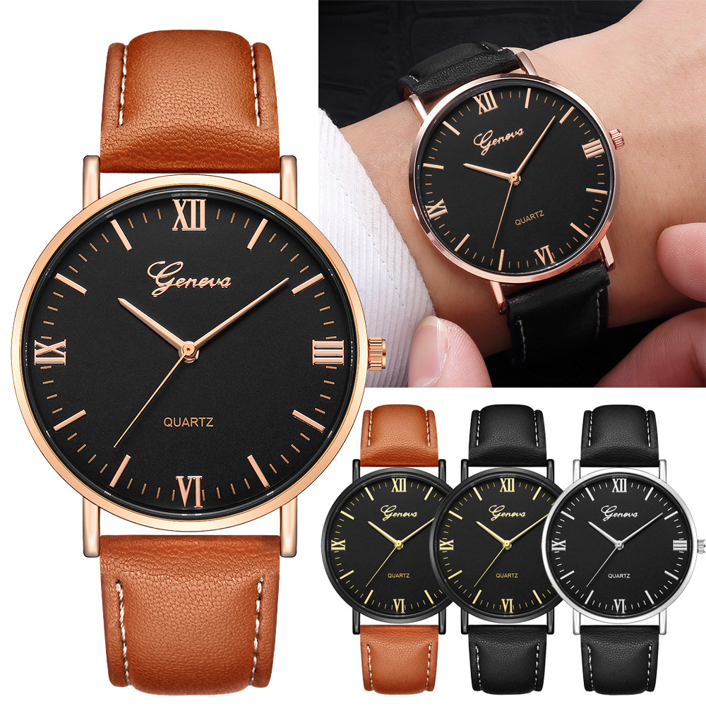 Geneva Classic Luxury Men Women Stainless Steel Analog Quartz Analog Wrist Watch Relogios Masculino erkek kol saati zegarek A