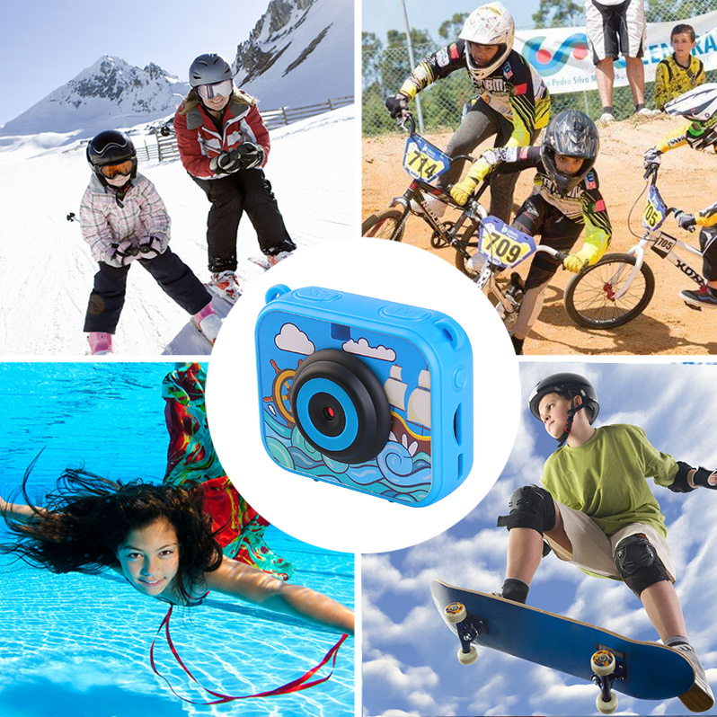 HTB1FARCXQ5E3KVjSZFCq6zuzXXan High Quality Mini Kids Digital Camera Waterproof 30M 1080P Video 120D Camera Recoder Camcorder Gift For children Easy use
