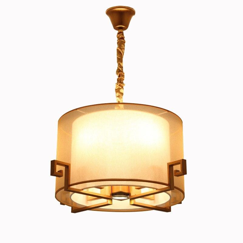 Modern New Chinese Restaurant Lighting Bedroom Lamp Kitchen Iron Hotel LED Round Light Balcony Foyer chandelier