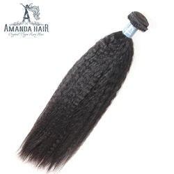 Аманда бразильский пучки волос плетение яки прямо huaman волос для салона странный прямо бразильский Девы волос 1 шт