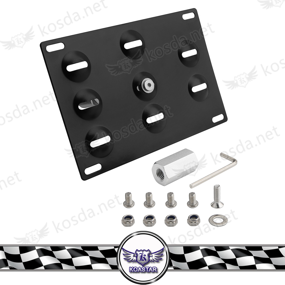 Car Tow Hook License Plate Mount Bracket Racing Number Plate For