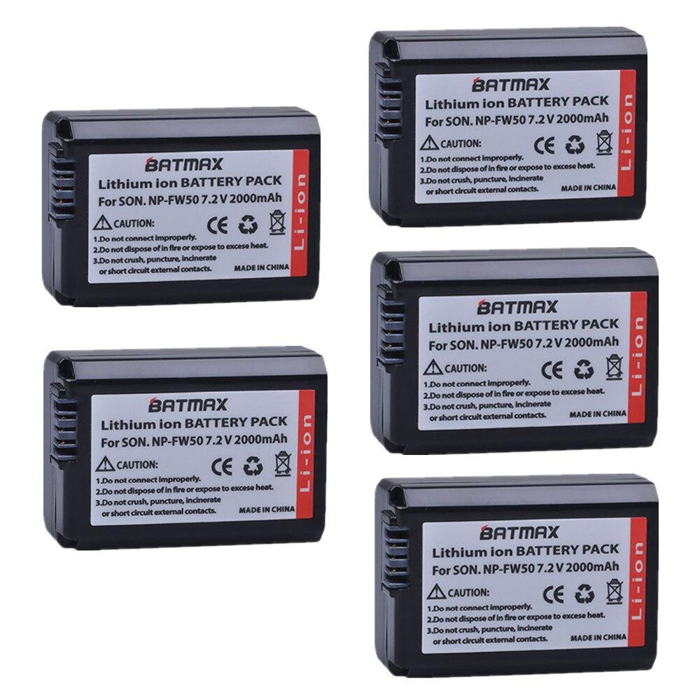 NP-FW50 NP FW50 Appareil Photo Batterie bateria pour Sony Alpha A33 NEX-7/C3/5 SLT-A55 A5000 A5100 A7R 3Nl 5 T 5C A7 NEX6 NEX7 NEX5TL NEX5R