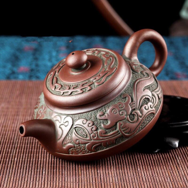 Ensemble de théière style nouvelle dynastie Han théière en sable violet bouilloires tasse à thé en porcelaine kung fu chinois ensemble de thé boisson