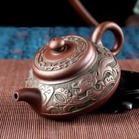 New Han Dynasty style teapot set Purple sand teapot kettles tea cup porcelain chinese kung fu tea set drink ware