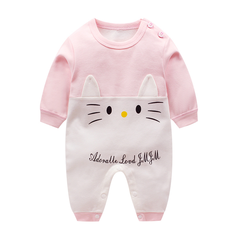 HTB1FARau1OSBuNjy0Fdq6zDnVXa1 Newborn baby clothes 100% Cotton Long Sleeve Spring Autumn Baby Rompers Soft Infant Clothing toddler baby boy girl jumpsuits
