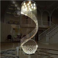 Modern K9 Crystal Chandelier Lighting Hanging Ceiling Lamps Fixtures With LED Source Clear K9 Crystal Pendant