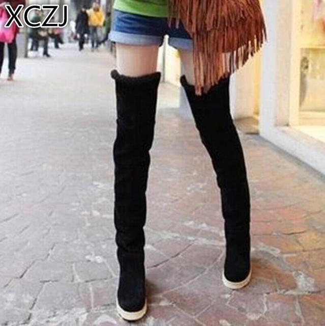 072e252e5 2018 new autumn and winter snow boots women's casual comfortable flat  bottom with cotton boots over the knee boots women