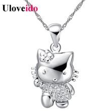 5% Off Cute Cat Necklace Women Jewelry Pendant Chain Bijoux Wedding Accessories Vintage Valentine's Day Gift Sale Uloveido N607