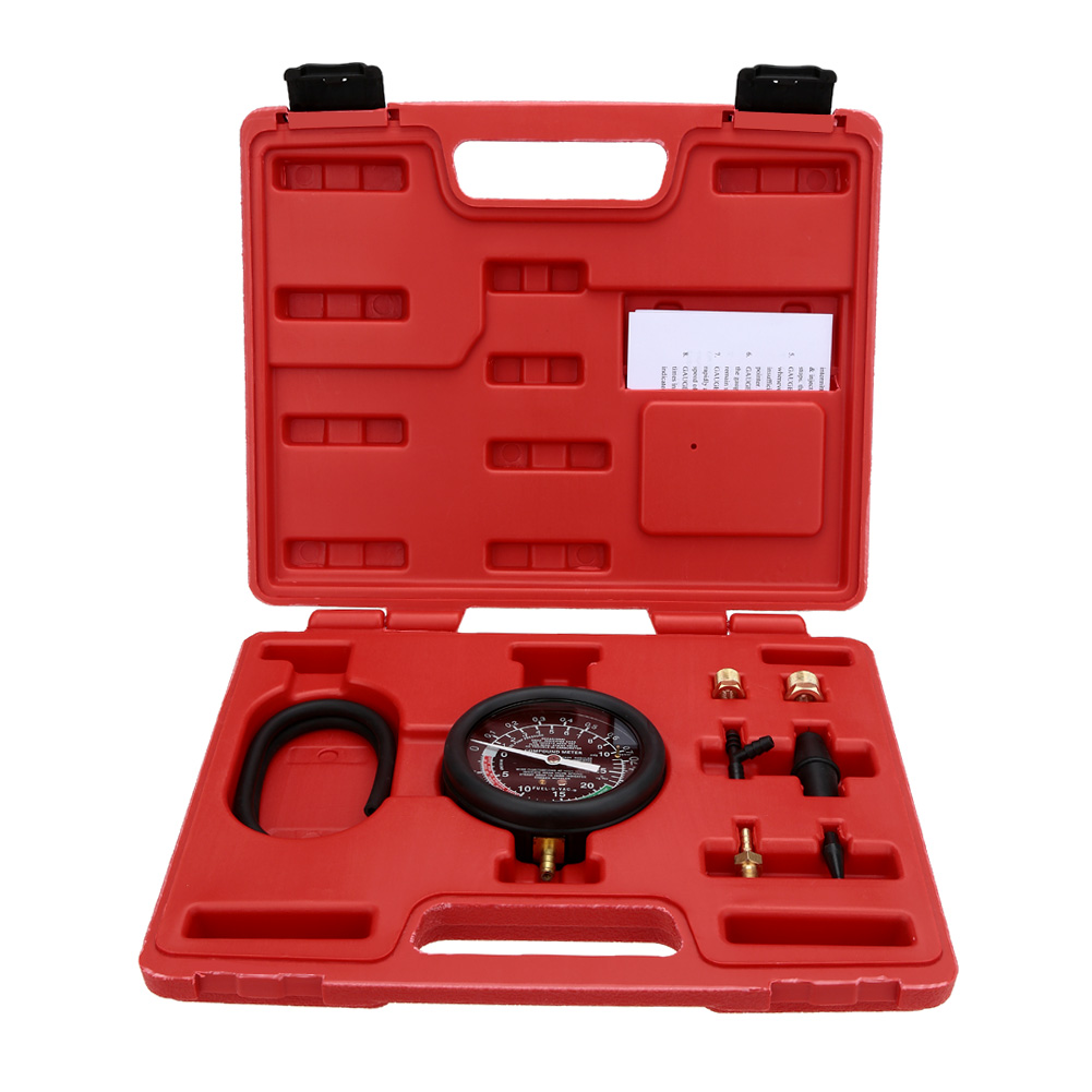 Prix pour KKmoon A0016 Vide et La Pompe À Carburant Testeur de Pression Manomètre Outil de Test Kit Carburateur Valve TU-1 Testeur Automatique De La Pression