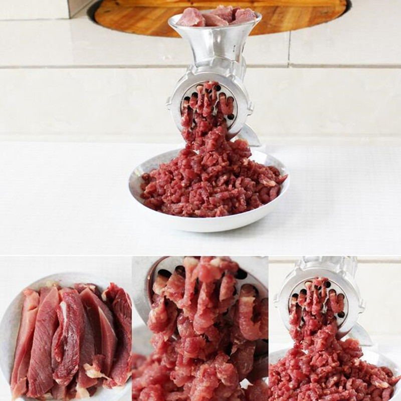 Manual Household Meat Grinder Sausage Maker Stainless Steel Sausage Stuffer Pasta Maker Meat Vegetable Grinder Mincer For Home manual meat slicer mincer cast iron meat grinder machine sausage stuffer filler table crank tools home kitchen vegetable cutter