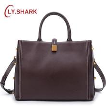 купить LY.SHARK Genuine Leather Handbag Shoulder Bag Female Bags For Women 2018 Luxury Handbags Women Bags Designer Crossbody Bag онлайн