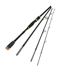 2019 New 2.1 2.4 2.7m Travel Lure Rod 4 Section Carbon Spinning Fishing Casting Pole Saltwater