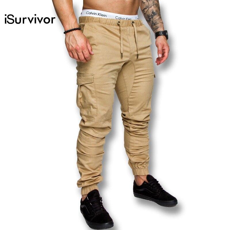 iSurvivor 2019 Men Spring Multi Pockets Cargo Pants ...