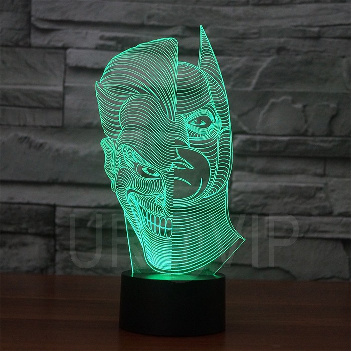 JC-2835  Amazing 3D Illusion led Table  Lamp Night Light with double face shape   (2)