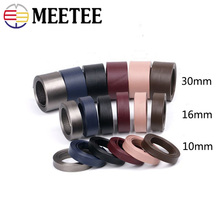 Meetee 5meters 10/16/30mm Imitation Leather Ribbon Webbing PU Manual Hair Accessories Cord DIY Craft Decorative Material