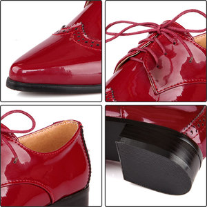 Image 3 - Fanyuan 2019 אביב נשים אוקספורד נעלי ניטראלי מחודדת מוצק צבע תפירת דירות מבוגרים משרד ליידי בטיחות עבודה נעליים