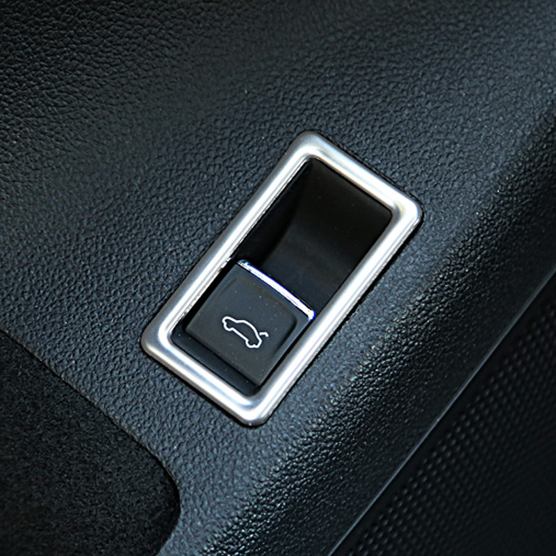Car Stainless Steel Rear Trunk Switch Button Decorative Cover Trim For VW Jetta MK6 2012 - 2015 Car Accessories