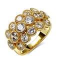 Fantástico Rodada pedras DA CZ Projeto Original de Luxo Na Moda Anéis de Cristal Moda Jóias Camada designer Brand new anéis Dos Namorados