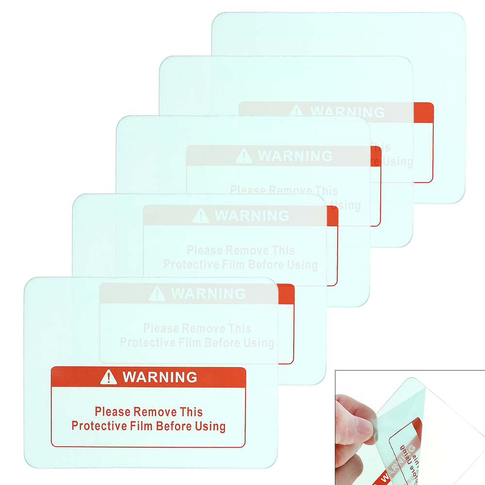 Sale 5pcs Transparent Spare Welding font b Shield b font Cover Lens Protector Plate for Welding