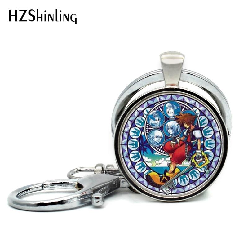 Kingdom Hearts Charm Bracelet: 2017 New Arrival Kingdom Hearts Keychains Handmade Round