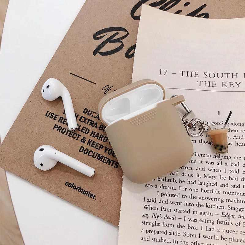 Milk tea pendant for AirPods protective cover Silicone soft wireless Bluetooth headset set personality female Cover anti-fall