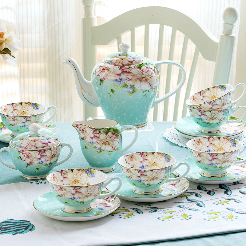 21piece-set, Chinese Vintage Look Coffee Cup Set 3