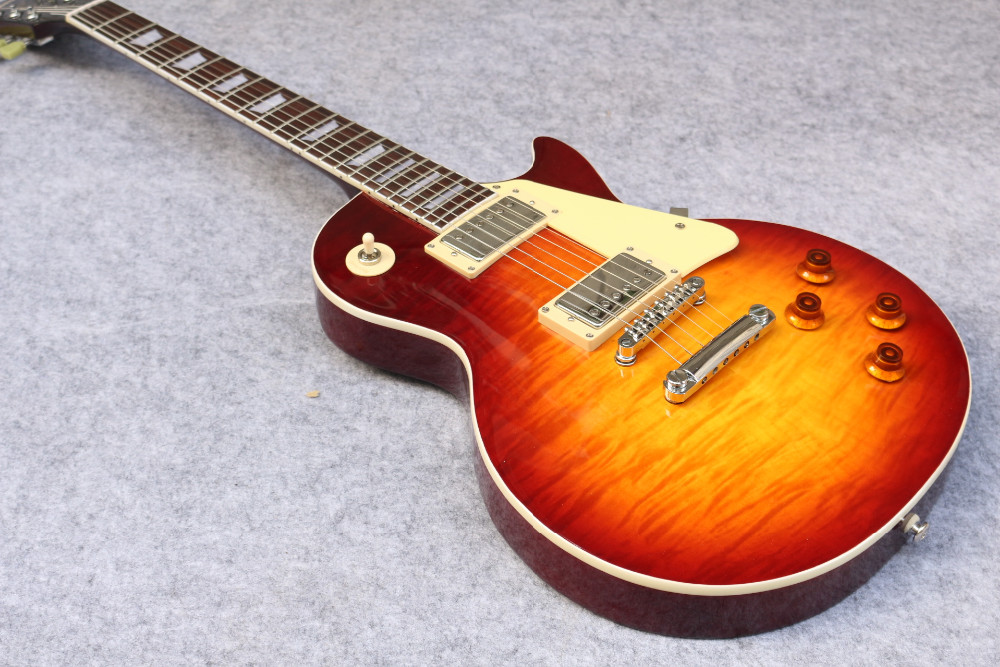 new 1959 R9 les Tiger Flame paul electric guitar Standard LP 59 standard in stock EMS fast shipping vintage sunburst terry burst in stock chibson yellow burst les chinese paul lp style standard electric guitar with ebony fingerboard free shipping