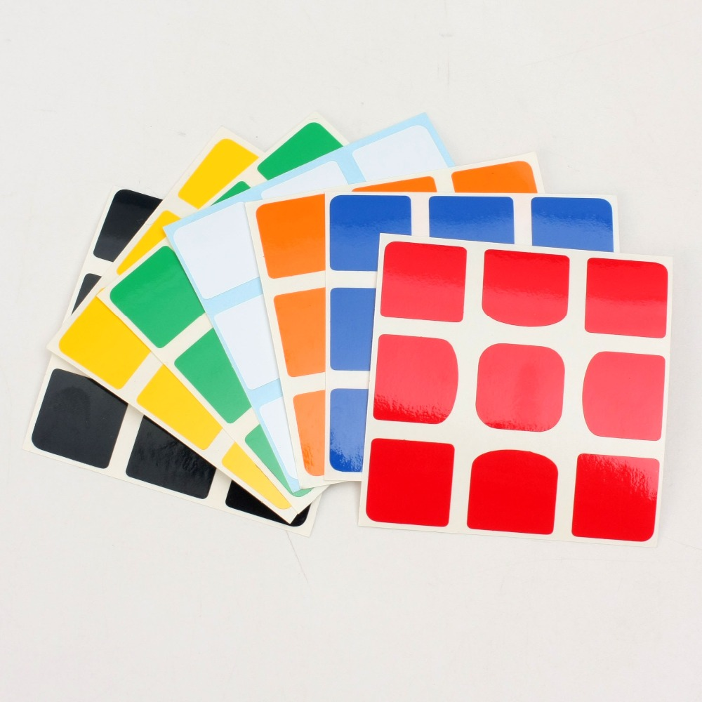 ZCUBE HotSell 4pcs Z Sticker DIY PVC Can Used On Qiyi XMD Valk3 Power Valk 3 M 3x3x3 Magnetic Magic Cube Puzzle Educational Toys