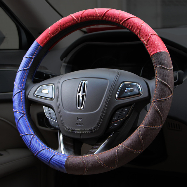 microfiber leather steering wheel cover sport car steeringmicrofiber leather steering wheel cover sport car steering accessories colorful two tone auto steering wheel covers car styling