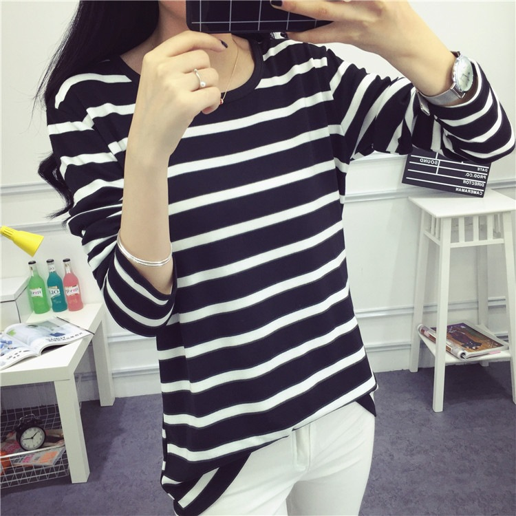 cpi women striped  shirts  summer long sleeve black 750 x 750 · jpeg