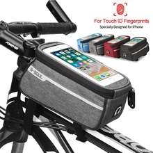 цена на Nylon Bicycle Bag MTB Front Bike Bag Frame PVC Touch Case Top Tube Storage Cycling Accessories for 6.0 inch Mobile Phone New D35