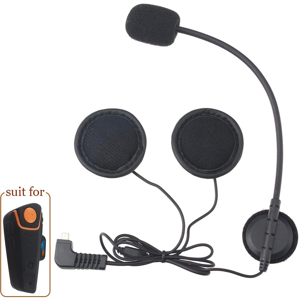 Helmet Headset With Microphone Stereo Earphone Only For BT-S1 BT-S2 Motorcycle Helmet Intercom