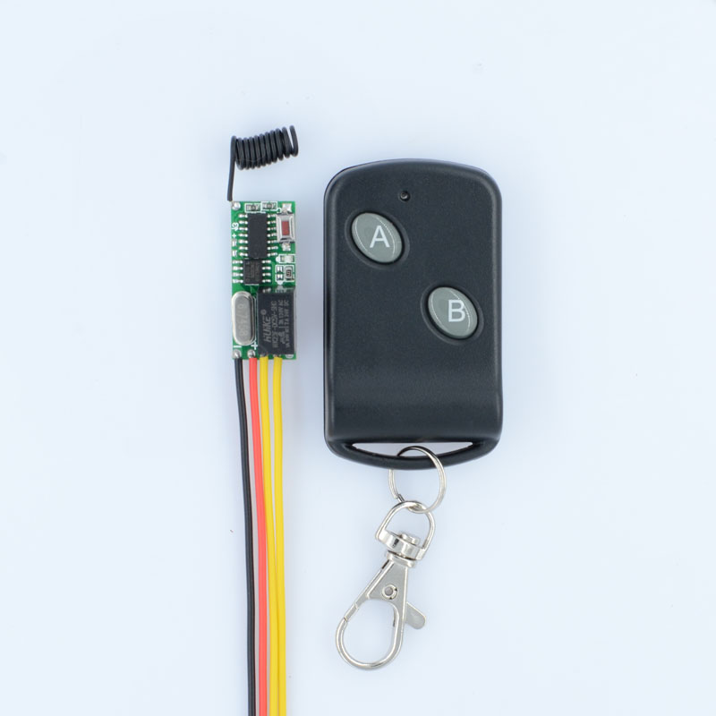 RF Remote Control Switch System Mini Small Volume DC3-5V Receiver 315/433MHZ Waterproof Transmitter A ON B OFF Micro 3v 5v Relay small relays wireless rc switch button signal line on off dc3 7 5v 12v controller remote control module