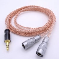 8 Cores 1.8M Upgrading Earphone Headset Headphone PCOCC Copper Cable Replace Wire for Mr Speakers Ether Alpha Dog