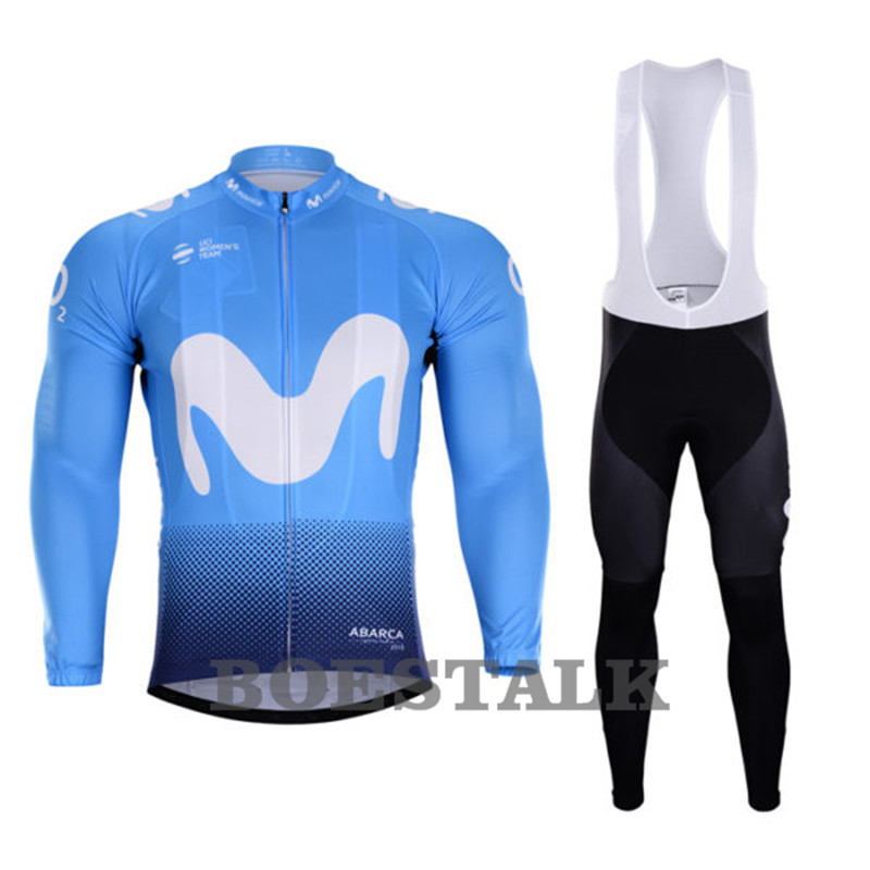 8a163723f 2018 movistar TEAM cycling Jersey Outdoor Color strip Long sleeved Bicycle  COMP RACE Personalized custom clothing