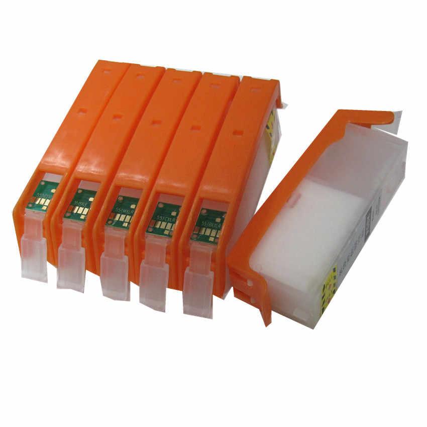 6 Warna 570 571 PGI-570 CLI-571 BK C M Y GY Isi Ulang Tinta untuk Canon PIXMA TS9050 TS9055 TS8050 TS8051 TS8052 TS8053