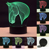 New Design Baby Sleeping Night Light Zebra Pattern Touch Table Lamp7Color Changing Desk Lamp 3D Bedroom
