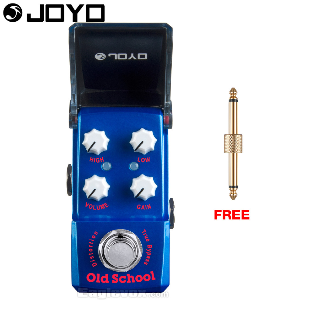 Joyo Old School Distortion Guitar Effect Pedal True Bypass Ironman JF-313 with Free Connector mooer hustle drive distortion guitar effect pedal micro pedal true bypass effects with free connector and footswitch topper