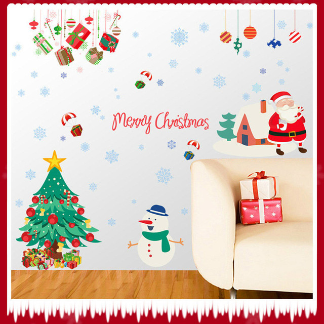 Aliexpresscom Buy D Wall Stickers Home Decorative Vinyl - Christmas wall decals removable