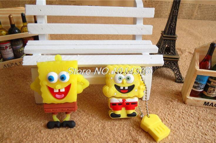 cartoon cute Sponge usb flash drive Bob SquarePants USB Flash Drive Pen Memory Stick/Thumb/Gift creative Pendrive S57 BB#21