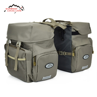 LOCAL LION Retro Canvas Bicycle Luggage Bags 50L Bike Rear Rack Carrier Bag Cycling Outdoor Waterproof